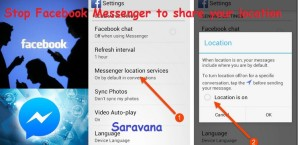 How to stop Facebook Messenger to share your location
