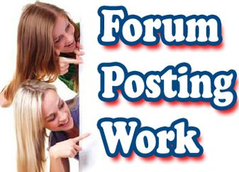 Earn Money By Forum Posting Jobs
