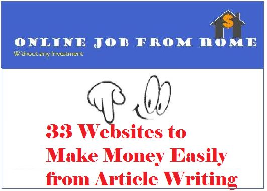 Make money easily from article writing
