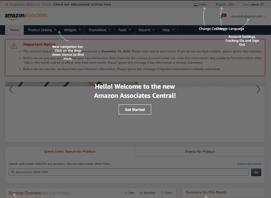 Amazon Associates Central
