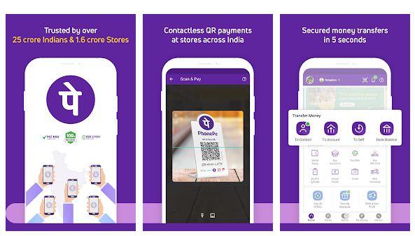 PhonePe mobile app